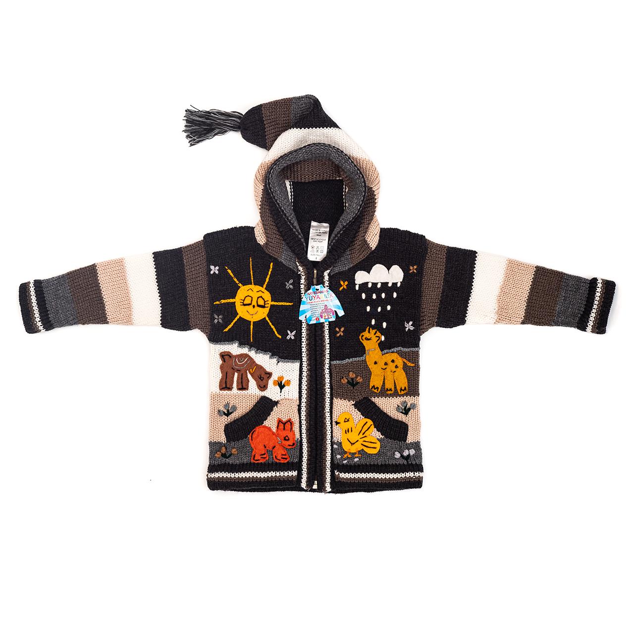 снимка на Детска жилетка с елфска качулка