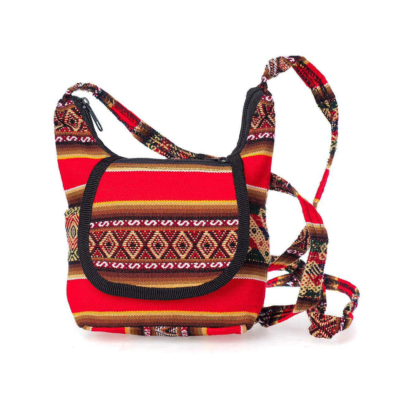 Дамска чанта малка червена
