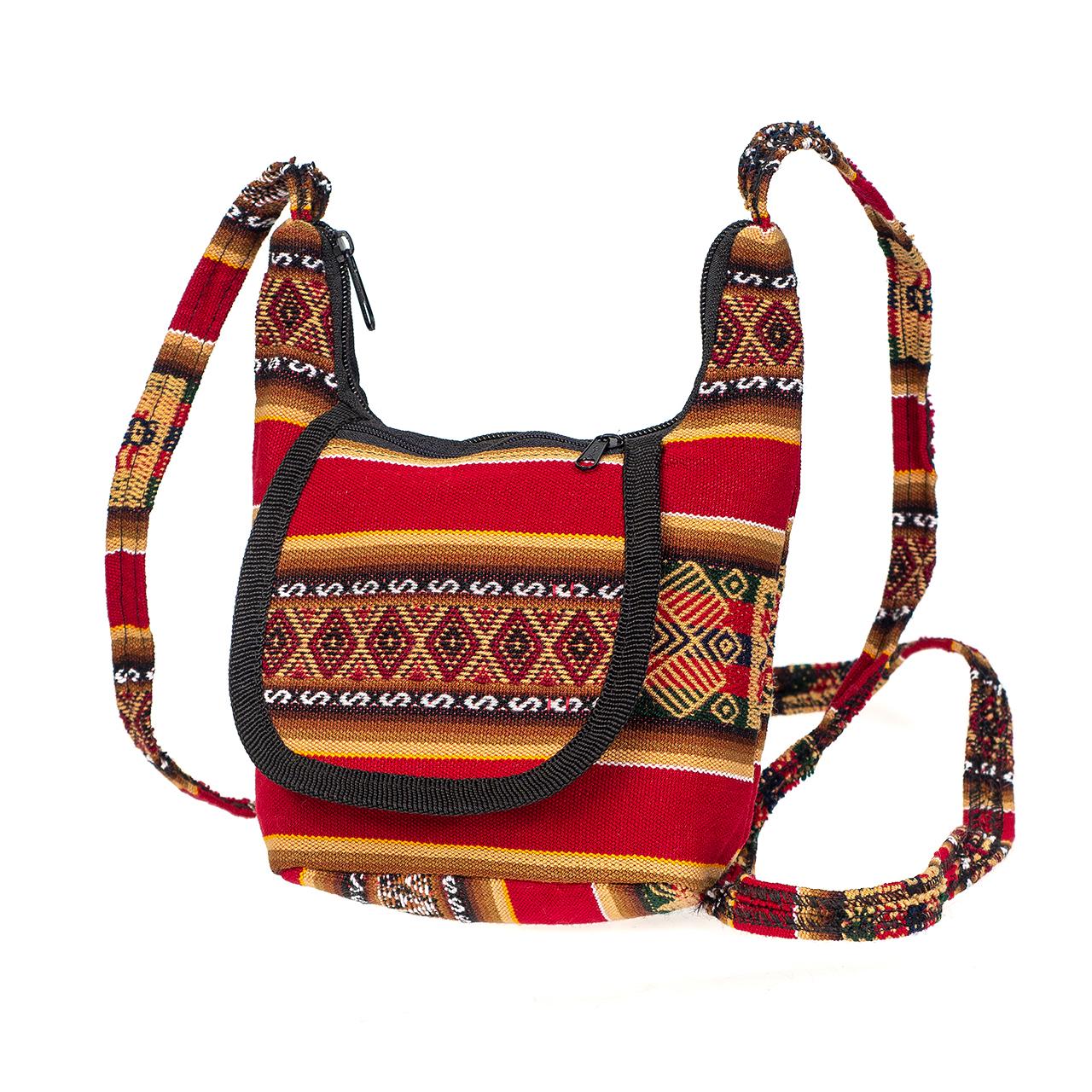 Дамска чанта малка тъмно червена
