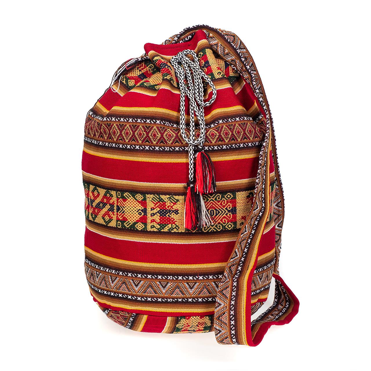 Чанта голяма тъмно червена