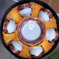 Комплект чаши с чинийки за кафе и чай