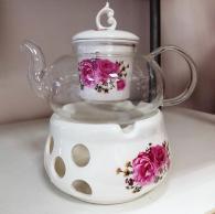 снимка на Чайник от йенско стъкло