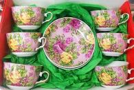 снимка на Комплект за чай/кафе с рози