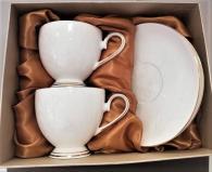 снимка на Чаши за кафе костен порцелан