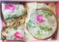 снимка на Комплект със рози за чай и кафе