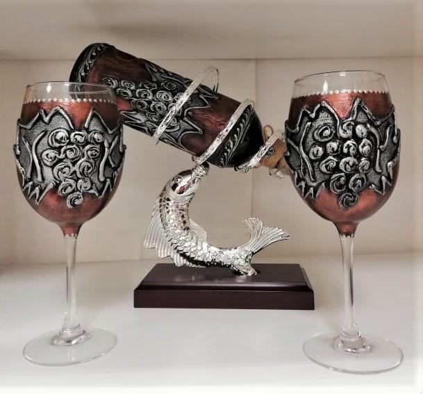 Рисуван комплект за вино
