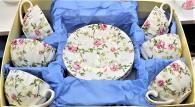снимка на Комплект за кафе със рози