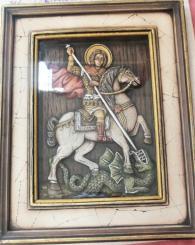 снимка на Св. Георги  икона със стъкло