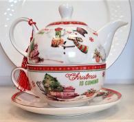 снимка на Коледен комплект с чайник