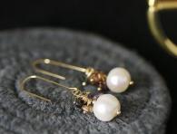 снимка на Красиви обици с перли
