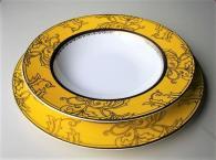 снимка на Луксозни чинии костен порцелан