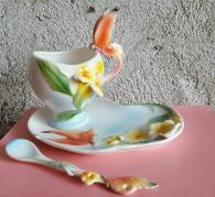 Арт  чаша с Пеперуда