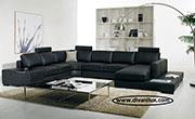 снимка на Пеобразен диван с лежанка, гъши пух  VIP, №