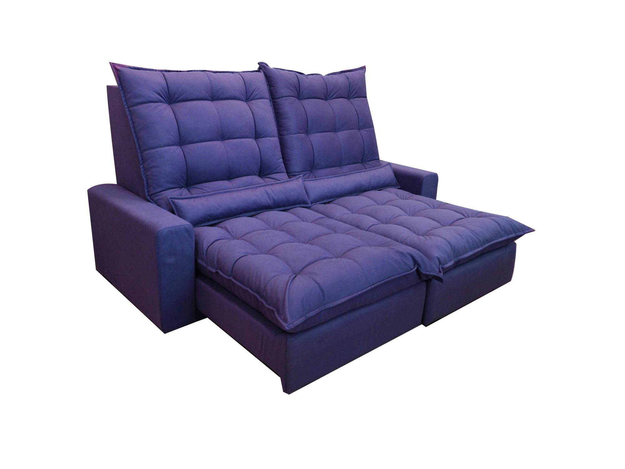 Луксозен диван за домашно кино в лилаво