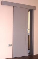 снимка на фрезовани пръзгащи интериорни врати по проект
