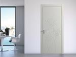 снимка на фрезовани интериорни врати МДФ бял мат по проект
