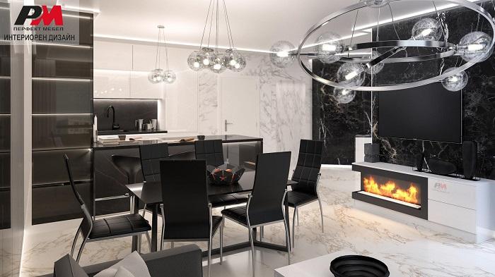 Уют в луксозния жилищен интериор в модерен стил.