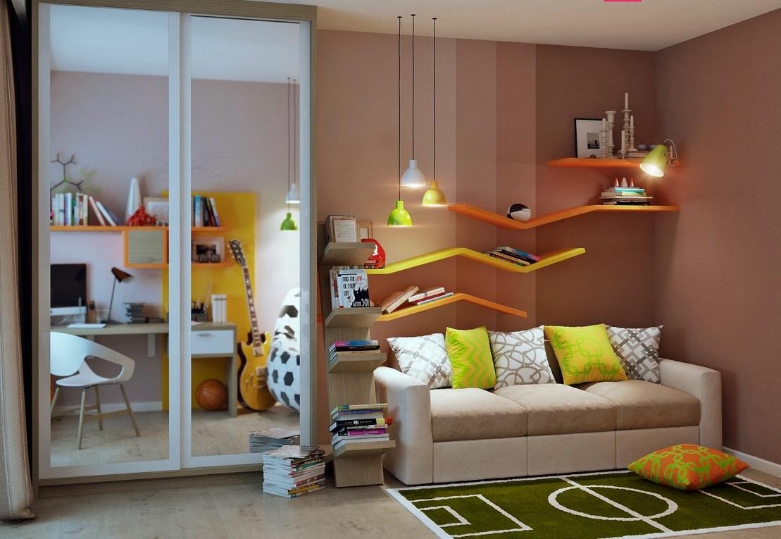 снимка на Юношеска детска стая с модерен дизайн