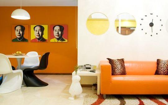 снимка на Апартамент с ведър, цветен интериор