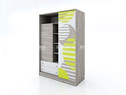 Трикрилен гардероб с плъзгащи врати Сити 1006