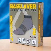снимка на чорапи Baselayer Black pack