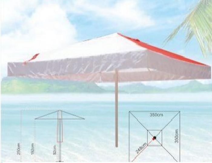 Алуминиев чадър 3.5/3.5 м. с лого на клиент