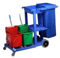 снимка на Пластмасова лека камериерска количка