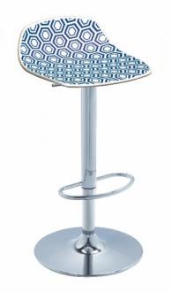 снимка на Дизайнерски бар стол с амортисьор