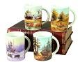 снимка на Комплект чаши за чайкафе с ловни мотиви